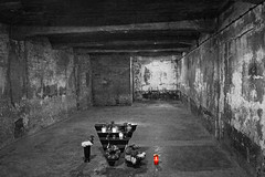 Auschwitz Gas Chamber (**Anik Messier**) Tags: red rouge sadness holocaust candle nazi nazis wwii poland rage jewish despair jews internment auschwitz genocide unescoworldheritage chandelle concentrationcamp secondworldwar finalsolution prisoners pologne deathcamp indignation gaschamber campdeconcentration blueribbonwinner owicim exterminationcamp maopolskie secondeguerremondiale mywinners gnocide theperfectphotographer konzentrationslagerauschwitz publiceuthanasiaprogram auschwitzcampi