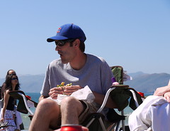 Dad takes a lunch break (kshibano) Tags: sanfrancisco beach sunny bakerbeach