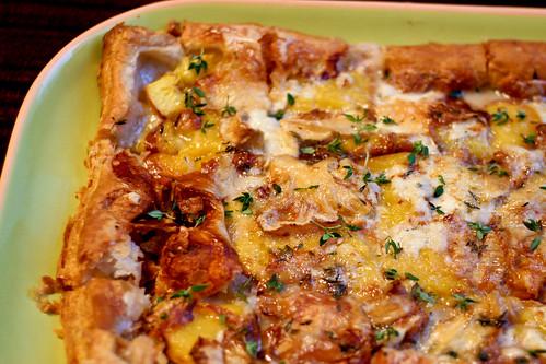 Nectarine, Thyme & Cheese Tart