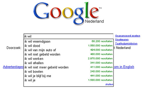 Google kent me te goed...
