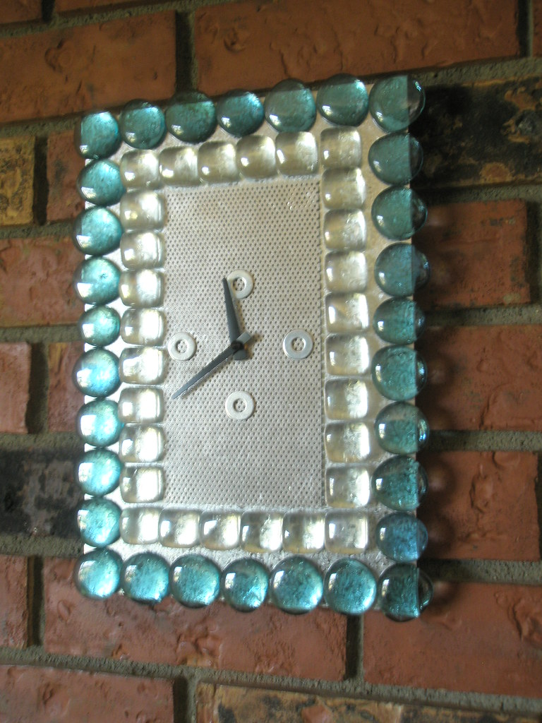 LOTS of GLASS - Recycled Contemporary Wall Clock