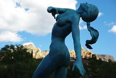 statue in sedona (james_clear) Tags: red arizona woman nature statue rock pentax sedona az canyon redrock sedonaarizona k200d justpentax