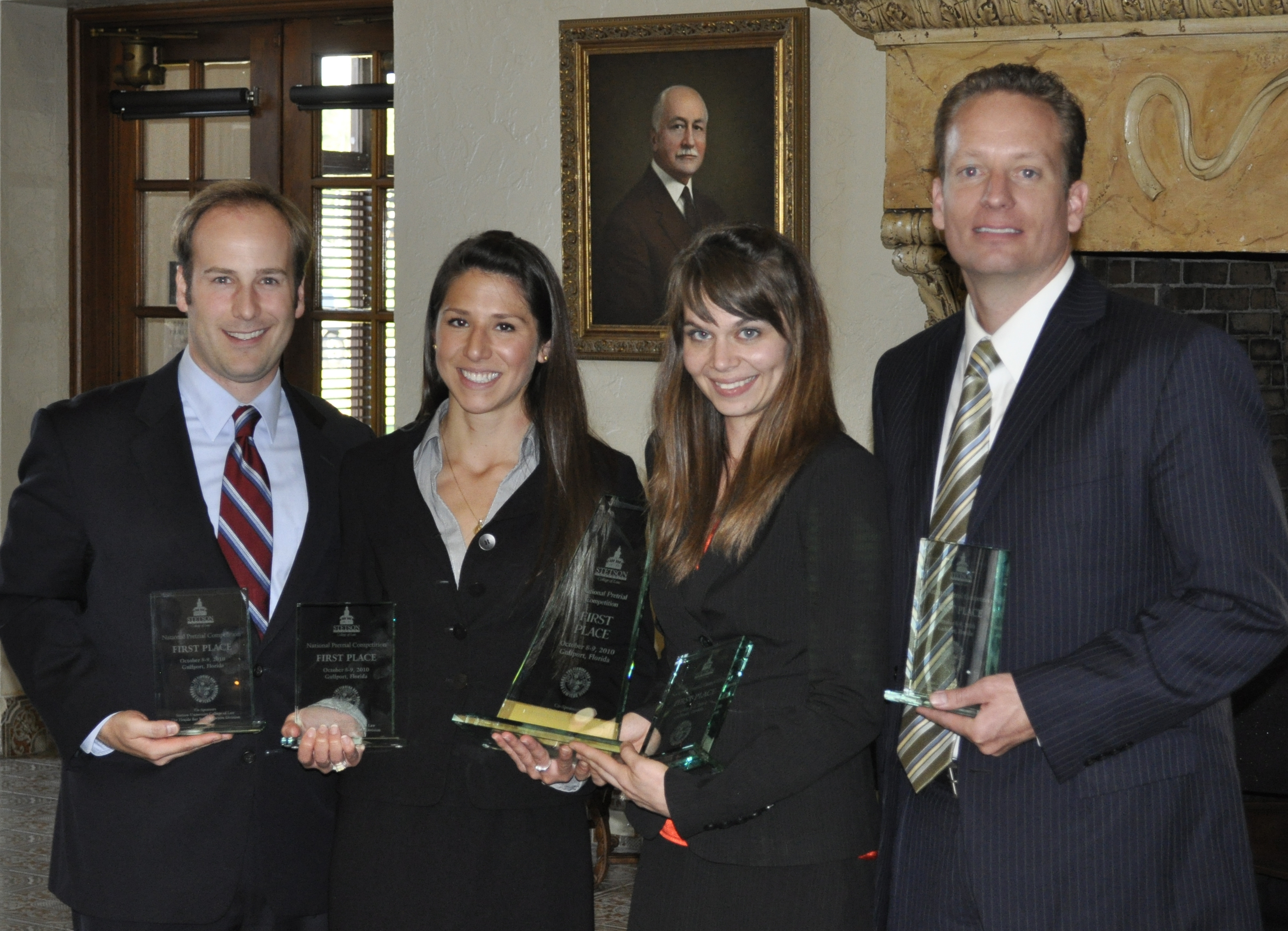 The college of william and mary school of law won the national pretrial competition at stetson