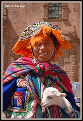 United Colors of Cusco - Peru (Gabriel Bermejo Muoz) Tags: portrait people color peru southamerica colors smile hat cuzco america clothing colorful colours gente native retrato cusco traditional folklore latinoamerica andes lamb latino sonrisa sombrero latina tradition poncho indien cholita andino oveja ovejita indigenous altiplano andean peruvian sudamerica peruano peruana tradicional quechua indigena nativo retratoandino