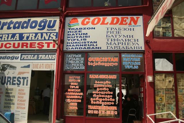 Fotografia da agência de autocarros Golden Turizm em Istambul