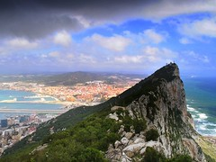 on the rock - Gibraltar (mujepa) Tags: city sea rock port spain south gibraltar espagne rocher strait ville sud dtroit