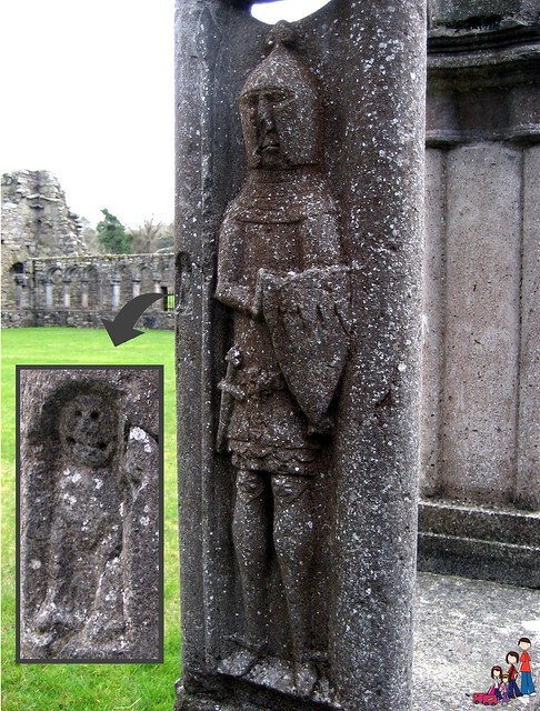 Carving in cloister at Jerpoint Abbey, County Kilkenny, Ireland