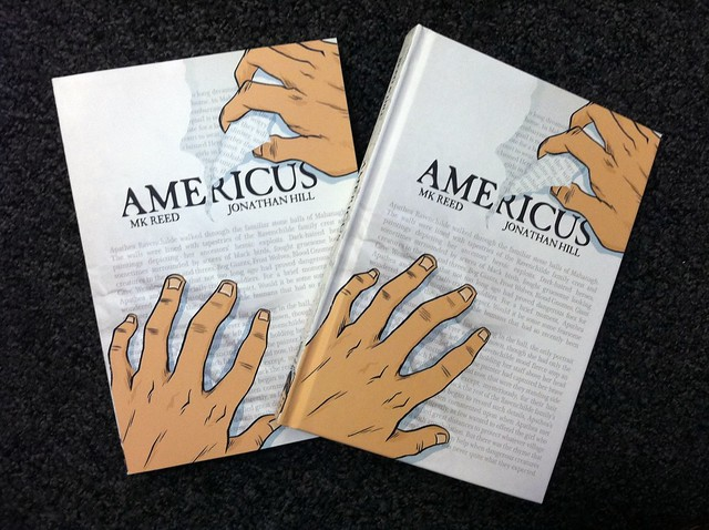 So crazy proud of this book! AMERICUS by MK Reed and Jonathan Hill