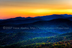 (IreneAbdouPhotography) Tags: autumn trees sunset sun sunlight mountain mountains color tree fall nature colors leaves forest sunrise landscape outdoors star virginia landscapes leaf scenery quiet image outdoor hiking small scenic parks sunsets peaceful images serenity layer layers imaging serene sunrises forests hdr highdynamicrange blueridge frontroyal shenandoahnationalpark photomatix