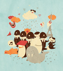 i am the walrus (luiza p.) Tags: illustration penguin eiffel beatles lennon walrus harekrishna deaddog edgarallanpoe luc