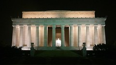 Lincoln Memorial at night, Washington DC (Sir Francis Canker Photography ) Tags: christmas xmas trip travel usa white house snow building tourism home station night arlington america mall noche virginia smithson