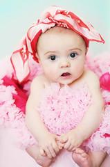 Bumbo, Baby! (Shana Rae {Florabella Collection}) Tags: pink baby girl scarf 5months naturallight bumbo pettiskirt florabella shanarae
