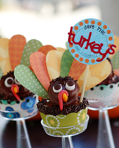 Save the Turkeys Cupcakes
