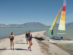 Hobie Cat sailing at Utah Lake