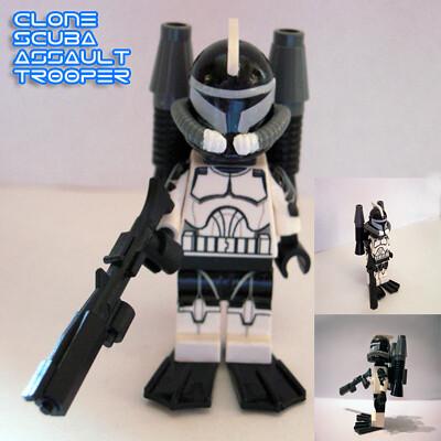 Clone SCUBA Trooper custom minifig