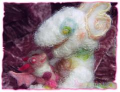 Pukis & Sweet-Ball (borometz) Tags: pink color art wool monster toy dragon craft felt plush fantasy tiny needlefelting legend mythology myth handcraft    needlefelted        atelierborometz