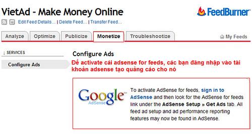 vntim Cách cài đặt Adsense trên trang Feed của blog