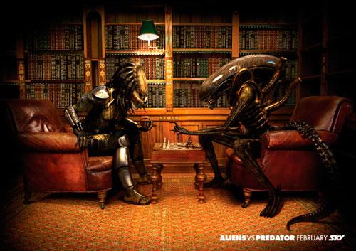 Alien vs Depredador Sky ajedrez