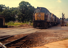 Griffith, IN Aug 1970 (railsr4me) Tags: railroad train griffith alco erielackawana el2452