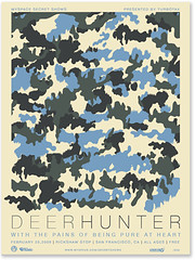 Deerhunter Secret show poster (tad carpenter) Tags: poster myspace monsters tad carpenter deerhunter