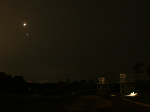 Moon and Venus from our observatory