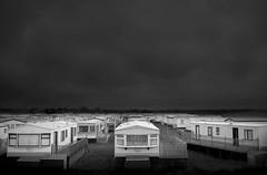 Dream holiday home (chrisfriel) Tags: winter blackandwhite bw landscape mono britain caravan unitedkingdon chrisfriel