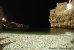 Polignano a Mare (Endro G.) Tags: sea italy panorama beach night landscape nikon italia mare 2008 puglia spiaggia notte paesaggio giannelli polignano 18135 d80 endro