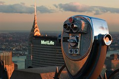 Chrysler Building from Rockfeller Center (Rmi Blanc) Tags: nyc sunset newyork chryslerbuilding rockfellercenter