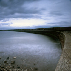 This is Sunderland #2 (martintype) Tags: new longexposure sea 120 film water analog coast pier s