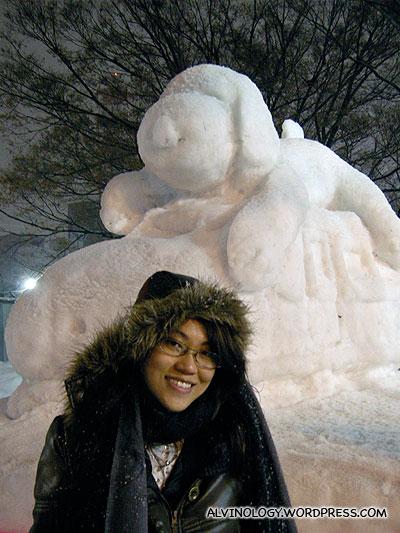 Rachel with Snoopy
