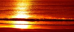 Golden Sea (bergurij) Tags: ocean sunset red sea water yellow relax golden early nikon warm quiet relaxing romance romantic faroeislands d90 nikond90