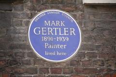 Photo of Mark Gertler blue plaque