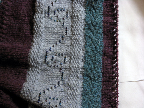 WIP: Huepow's Garden shawl: slow progress