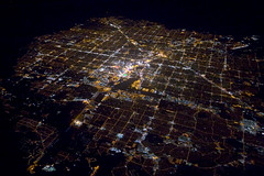 the brightest spot on earth (gsgeorge) Tags: city urban streets night grid suburban lasvegas awesome nevada aerial citylights midnight infrastructure suburbs thestrip sprawl population citycenter soe axis freeways lasvegasstrip urbanity cityfromtheair city