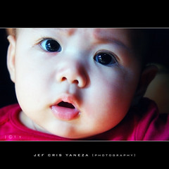 Gabe Part II (jef cris) Tags: portrait baby face child babyface naturallightchildphotography canon400d hppt happyprettypinktuesday filipinobabygirl