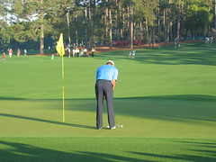 Tiger Woods -- putting in on the second hole (charmgirl13) Tags: dad carmen 2007 tigerwoods themasters amencorner augustanational augustageorgia cameradownload