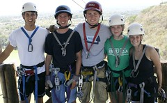 Ziplining around Laguna Tiscapa in Managua, Nicaragua was the final hoorah for this free travel group.