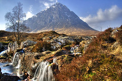 West Highland Way - Buachaille Etive Mor (BoboftheGlen) Tags: uk river scotland waterfall glen more glencoe buachaille etive kingshouse stob dearg the4elements coupall