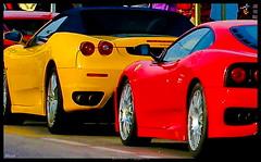 Red or Yellow ?  EXPLORER 5 APRIL 2009 #308 (Heccastudio / I see you soon) Tags: red espaa colour car yellow canon eos rebel spain rojo ferrari girona amarillo coche catalunya hdr lescala ferrarimodena360 xti hecca
