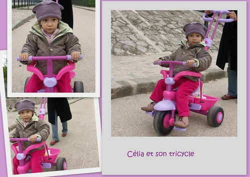 celia et son tricycle