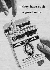 SENIOR SERVICE (old school paul) Tags: vintage ads smoking 1957 cigarettes tobacco seniorservice