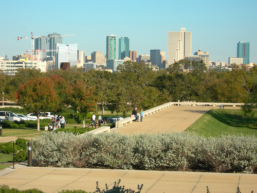 Fort Worth skyline from the Amon Carter Museum