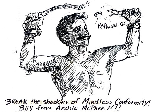 Break the Shackles of mindless conformite! Buy from Archie McPhee! Envelope Art