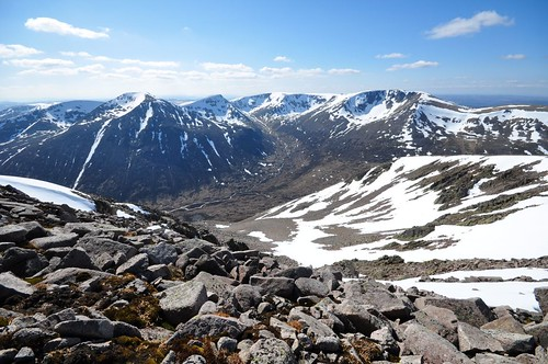 Cairn Toul and Braeriach across Lairig Ghru