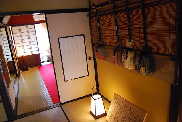 Interior de la casa de geishas Shima de Kanazawa