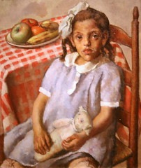 portrait apple animal fruit female america painting toy paint child banana canvas fabric figure oil africanamerican ethnic somewhere 1934 inamerica newdeal saam brackman somewhereinamerica robertbrackman publicworksofart newdealforartists picturingthe1930s