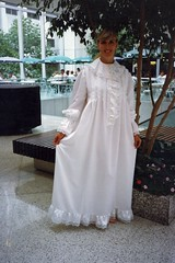 Ivory Satin & Lace Ruffled Victorian Styled Nightgown 4 (mondas66) Tags: ruffles lace victorian ivory boudoir gown satin nightgown frilly nightdress ruffle nightwear frills frill ruffled nightie frilled frilling frillings befrilled