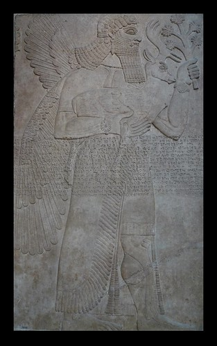 Bas-Relief of a winged guardian