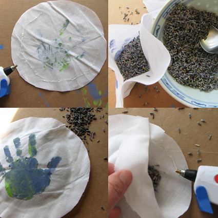 4 steps for making lavender sachet