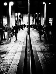 Symtrie (Gabriel Asper) Tags: street en white black bus gabriel de landscape switzerland la photo noir suisse geneva geneve gare photos g picture ambient paysage rue et pict genve blanc reflets tpg dans ambiance genf asper symtrie cornavin suiss gasper gabiche gabicheminimal
